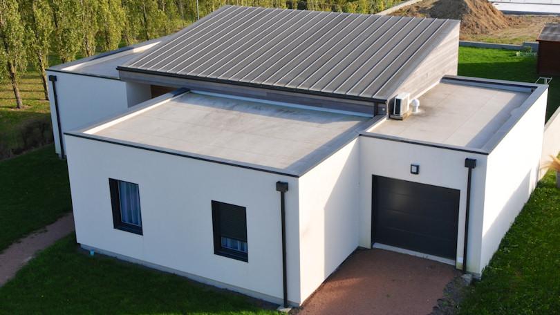 100 toiture bac acier maison finest m laine design est un mod le de ma - Bac acier imitation zinc ...